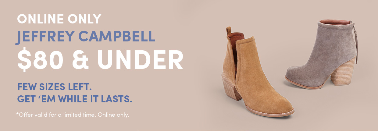 $80 and under - Jeffrey Campbell