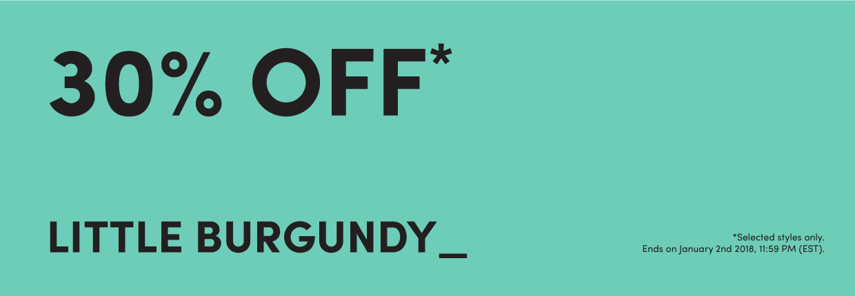 30% off Little Burgundy