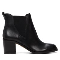 Women's Justin Black Leather Boot