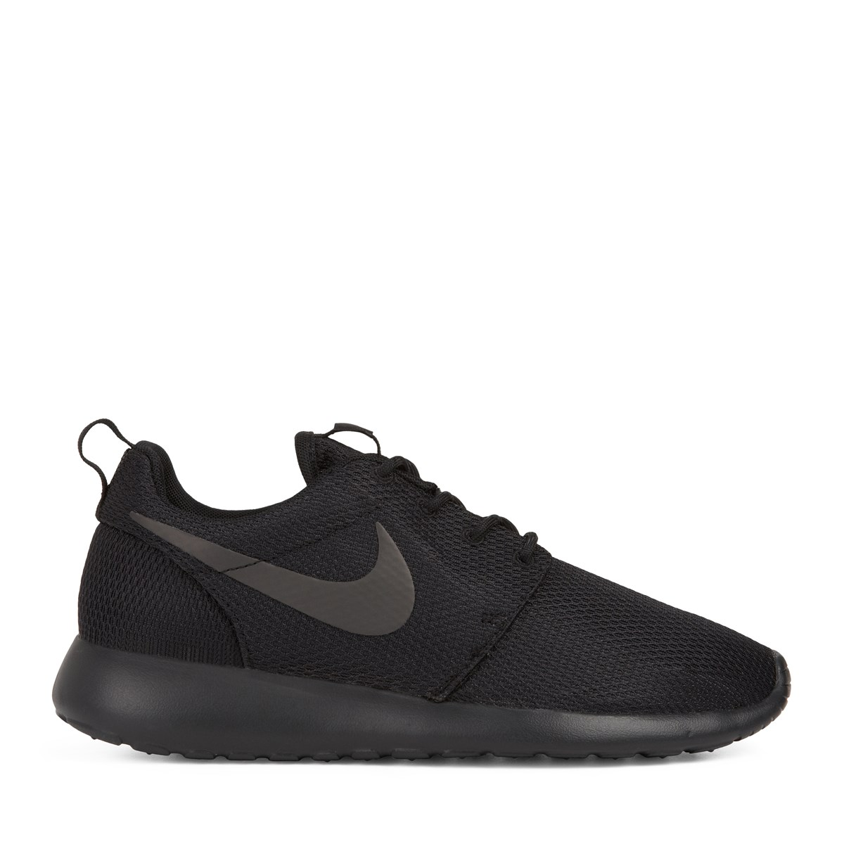 women 39 s roshe one all black sneaker little burgundy. Black Bedroom Furniture Sets. Home Design Ideas