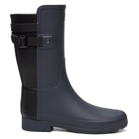 Women's Original Short Refined Back Strap Dark Grey Rain Boots