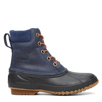 Men's Cheyanne Lace Full Grain Navy Winter Boot