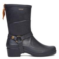 Women's Miss Julie Black Rain Boots