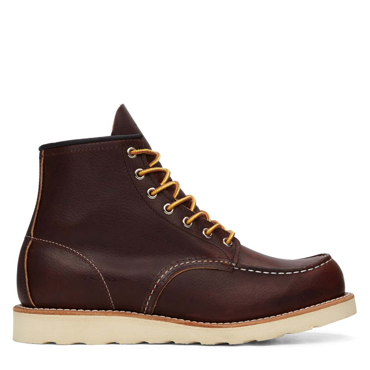 s 6 moc classic leather boots burgundy