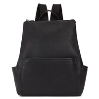 Women's V37131 Black Leather Backpack