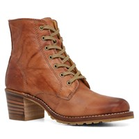Women's Sabrina Cognac Lace-Up Boot