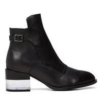 Women's Leto X Black Leather Heel