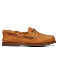 Men's Gold A/O 2-Eye Cognac Boat Shoes