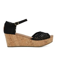 Women's Platform Black Wedge