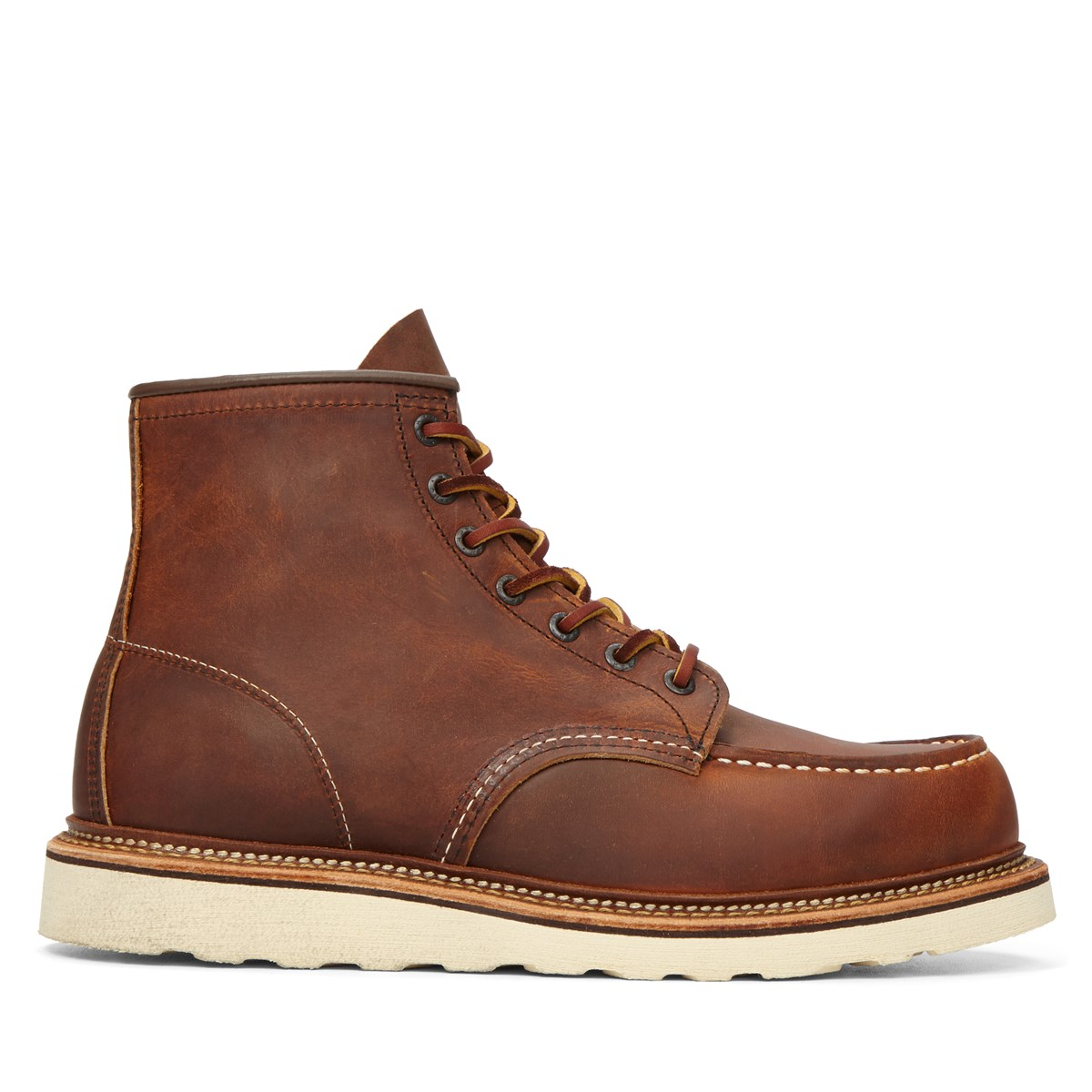 s moc toe 1907 classic leather boots burgundy