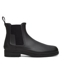 Men's Refined Chelsea Black Boot