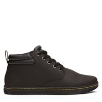 Men's Malake Papped Collar Black Shoe