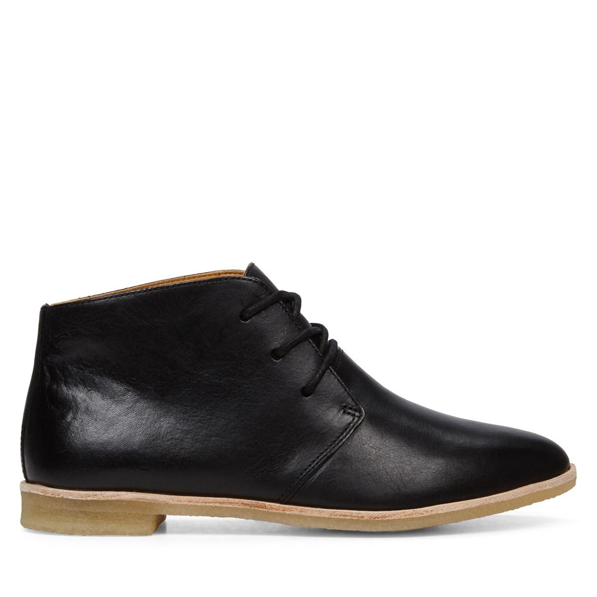 s phenia desert black leather boots burgundy