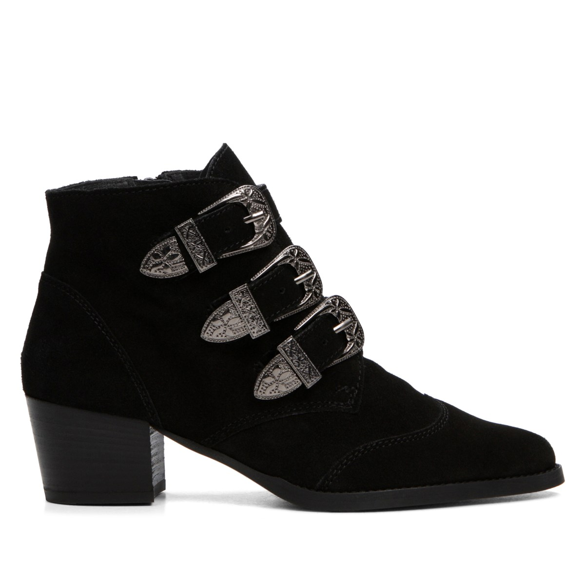 Women's Black Leather Boot