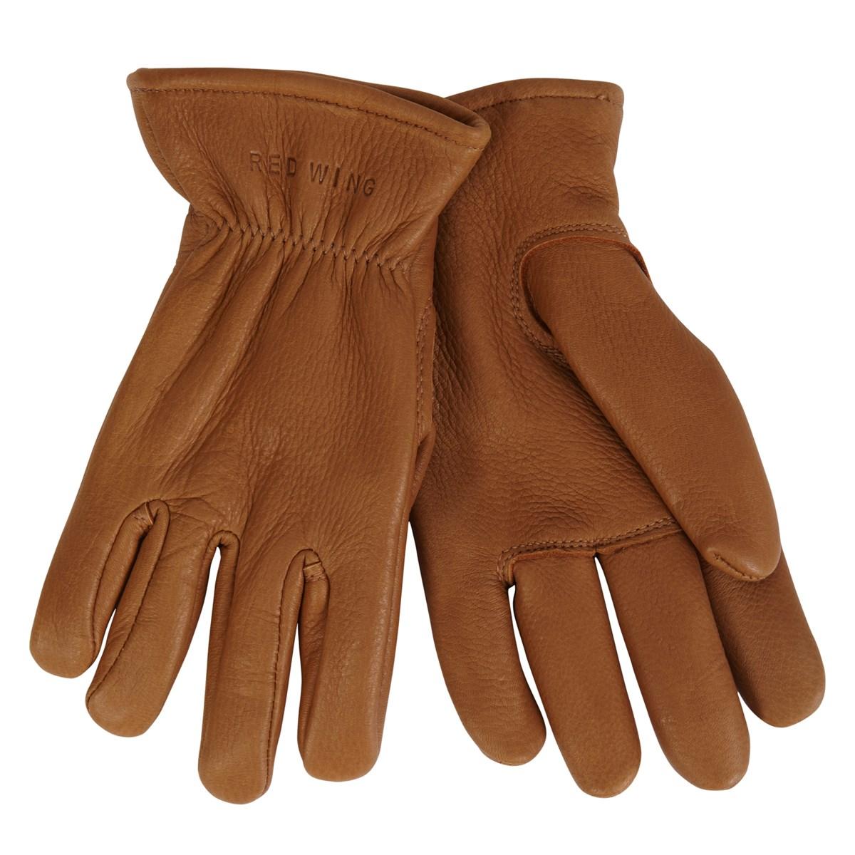 lined light brown gloves little burgundy