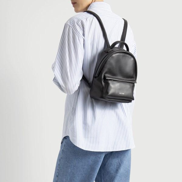 Munich Mini Black Backpack Little Burgundy