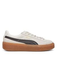 Women's Suede Platform Core White/Black Sneaker