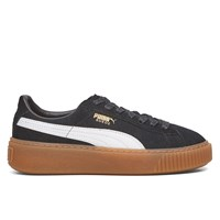 Women's Suede Platform Core Black/White Sneaker