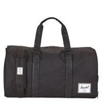 Novel Weekender Duffle Bag in Black Patent and Tan