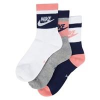 Women's 3 Pack White Low Crew Socks