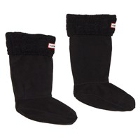 Knit Boot Black Socks