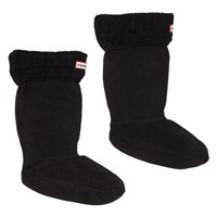 Women's Guernsey Black Boot Socks