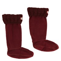 Women's Six-Stitch Cable Bordeaux Boot Sock