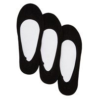 Solid Foot liner 6K Black Socks