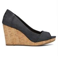 Women's Stella Wedge Black Sandal