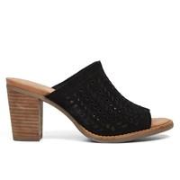Women's Majorca Mule Suede Black Sandal