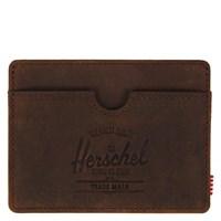 Porte-cartes Charlie en cuir brun