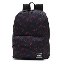Women's Realm Black Flower Print Backpack
