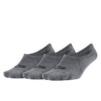 3-Pack No Show Grey Socks