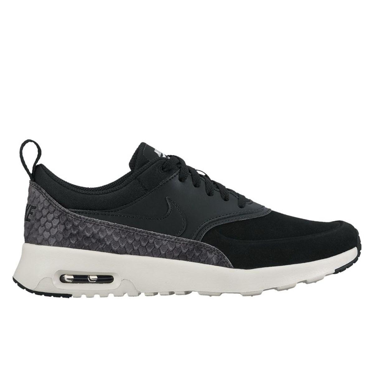 women 39 s air max thea premium black sneaker little burgundy. Black Bedroom Furniture Sets. Home Design Ideas