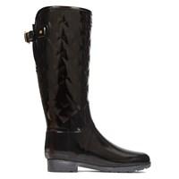 Women's Refined Gloss Quilt Tall Black Boot