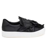 Women's Azurra Black Satin Sneaker