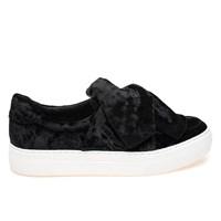 Women's Annabelle Black Velvet Sneaker