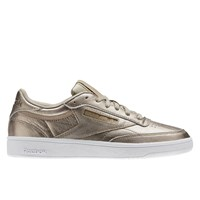 Women's Club C 85 LTHR Pearl Metallic Sneaker