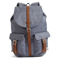 Dawson Dark Chambray Crosshatch Medium Blue Backpack
