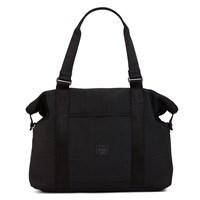 Woven Srand Black Duffle Bag