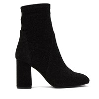 Women's Ella Black Glitter Boot