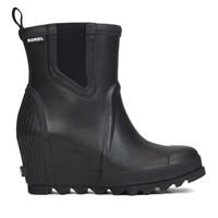 Women's Joan Rain Wedge Black Chelsea Boots