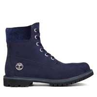 Women's 6 Inch Premium Velvet Dark Blue Boot