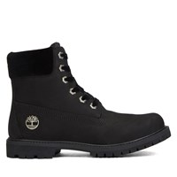 Women's 6 Inch Premium Velvet Black Boot