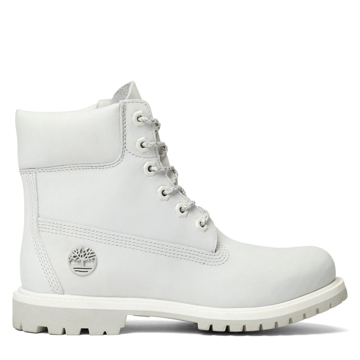 Women's 6 Inch Premium White Boot
