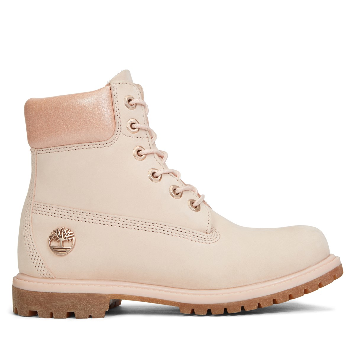 Women S 6 Inch Premium Light Pink Nubuck Boot Little