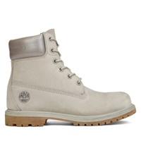 Women's 6 Inch Premium Light Grey Nubuck Boot