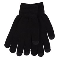 Rory Black Gloves With Grey Tips