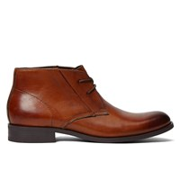 Men's Adelmo Tan Burnished Leather Lace-Up Shoe
