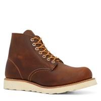 Men's Round Toe Brown Boot